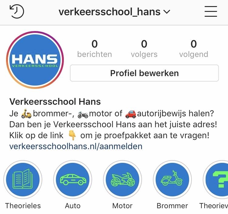 Instagram Verkeersschool Hans